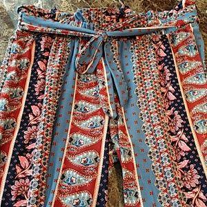 Pink Republic flowey pants.